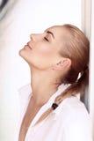 Beautiful woman fashion portrait Stock Photos