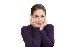 A beautiful woman is feeling sad Royalty Free Stock Photography