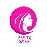 Beautiful woman, female vector logo design Royalty Free Stock Photo