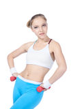 Beautiful woman  in fitness Stock Images