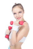 Beautiful woman  in fitness Royalty Free Stock Images