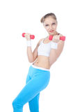 Beautiful woman  in fitness Royalty Free Stock Photos