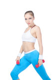 Beautiful woman  in fitness Stock Photography