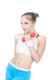 Beautiful woman  in fitness Royalty Free Stock Photography