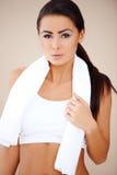 Beautiful woman after fitness Stock Photos