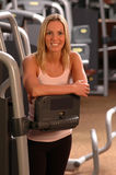 Beautiful woman in fitness gym Royalty Free Stock Photos