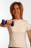 Beautiful woman in fitness gym Royalty Free Stock Photo