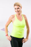 Beautiful Woman Fitness Instructor Stock Photography