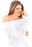 Beautiful woman flirting Royalty Free Stock Image