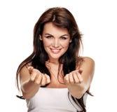 Beautiful woman flirting Stock Photos