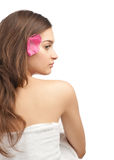 Beautiful woman with flower Stock Image