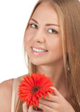 Beautiful woman with flower Royalty Free Stock Photos