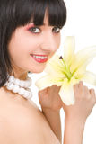 Beautiful woman with flower Stock Photography
