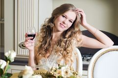 Beautiful woman with flowers Royalty Free Stock Images