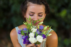 Beautiful woman with a flowers Royalty Free Stock Photos