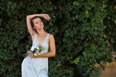 Beautiful woman with a flowers Stock Photo