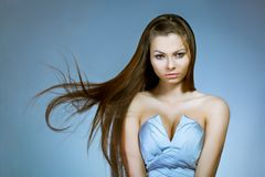 Beautiful woman with flying hair Royalty Free Stock Photos