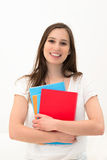 Beautiful woman with a folder Stock Photo