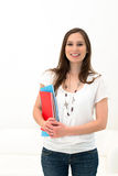 Beautiful woman with a folder Stock Image
