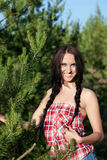 Beautiful woman in a forest Royalty Free Stock Images