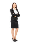 Beautiful woman in formal clothes Stock Photos