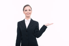Beautiful woman in formal clothes Royalty Free Stock Photo