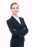 Beautiful woman in formal clothes Stock Photography