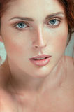 Beautiful woman with freckles Stock Photo