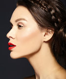 Beautiful  woman with fresh daily makeup and clean face Royalty Free Stock Images