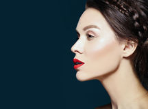 Beautiful  woman with fresh daily makeup and clean face Royalty Free Stock Image