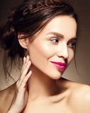 Beautiful  woman with fresh daily makeup and clean face Royalty Free Stock Photography