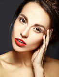Beautiful  woman with fresh daily makeup and clean face Stock Photography