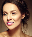 Beautiful  woman with fresh daily makeup and clean face Royalty Free Stock Photo