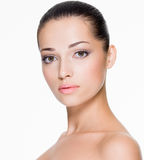 Beautiful woman with fresh skin of face Royalty Free Stock Photos