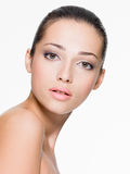 Beautiful woman with fresh skin of face Stock Photo