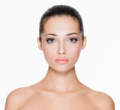 Beautiful woman with fresh skin of face Royalty Free Stock Images