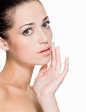 Beautiful woman with fresh skin of face Royalty Free Stock Photo