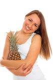 Beautiful woman with fruit Royalty Free Stock Image