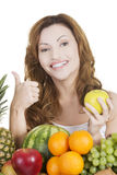 Beautiful woman with fruits Royalty Free Stock Photos