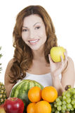 Beautiful woman with fruits Royalty Free Stock Images
