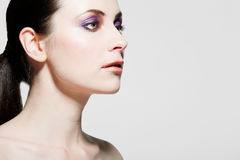 Beautiful woman with full makeup. Royalty Free Stock Images