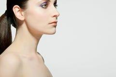 Beautiful woman with full makeup. Stock Photos