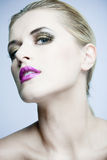 Beautiful woman with full makeup. Royalty Free Stock Image