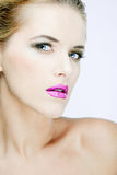 Beautiful woman with full makeup. Royalty Free Stock Photo