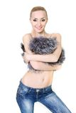 Beautiful woman in fur Royalty Free Stock Photos