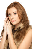 Beautiful woman in fur Royalty Free Stock Photography