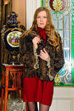 Beautiful woman in fur coat. Royalty Free Stock Photo