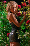 Beautiful woman in the garden Royalty Free Stock Photography