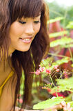 Beautiful woman in the garden Stock Images