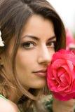 Beautiful woman in garden Stock Photos
